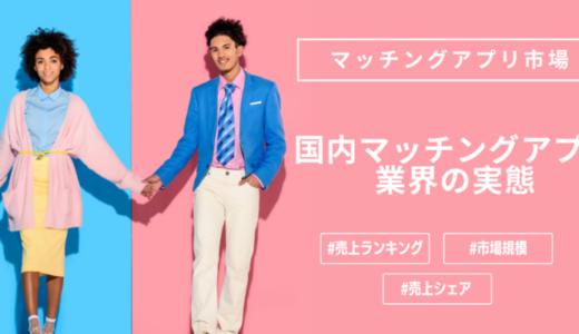 恋活/婚活マッチングアプリ市場の調査レポート!【売上・市場規模・利用動向】