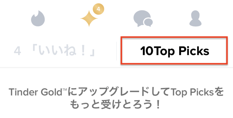 TinderのTOP Picks